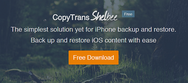 download copytrans shelbee to backup iphone without itunes