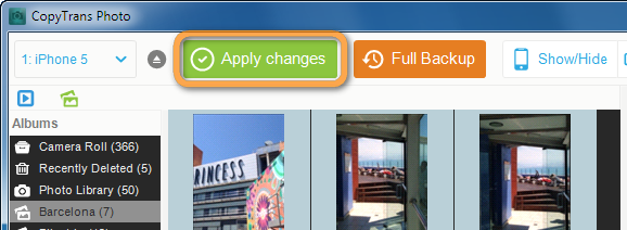 apply changes button